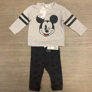 Mickey Mouse Baby Long Sleeve/Pants Outfit